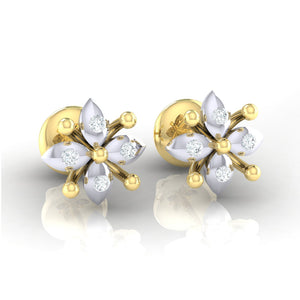 18Kt gold real diamond earring 48(1) by diamtrendz