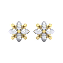 Load image into Gallery viewer, 18Kt gold real diamond earring 48(2) by diamtrendz