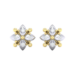 18Kt gold real diamond earring 48(2) by diamtrendz