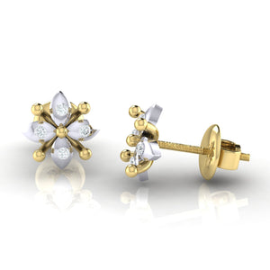 18Kt gold real diamond earring 48(3) by diamtrendz