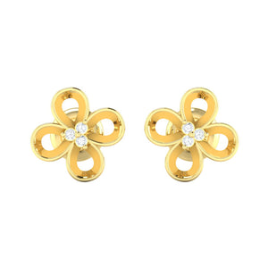 18Kt gold real diamond earring 49(2) by diamtrendz