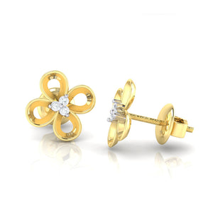 18Kt gold real diamond earring 49(3) by diamtrendz