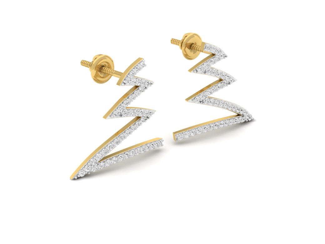 18Kt gold real diamond earring 4(1) by diamtrendz
