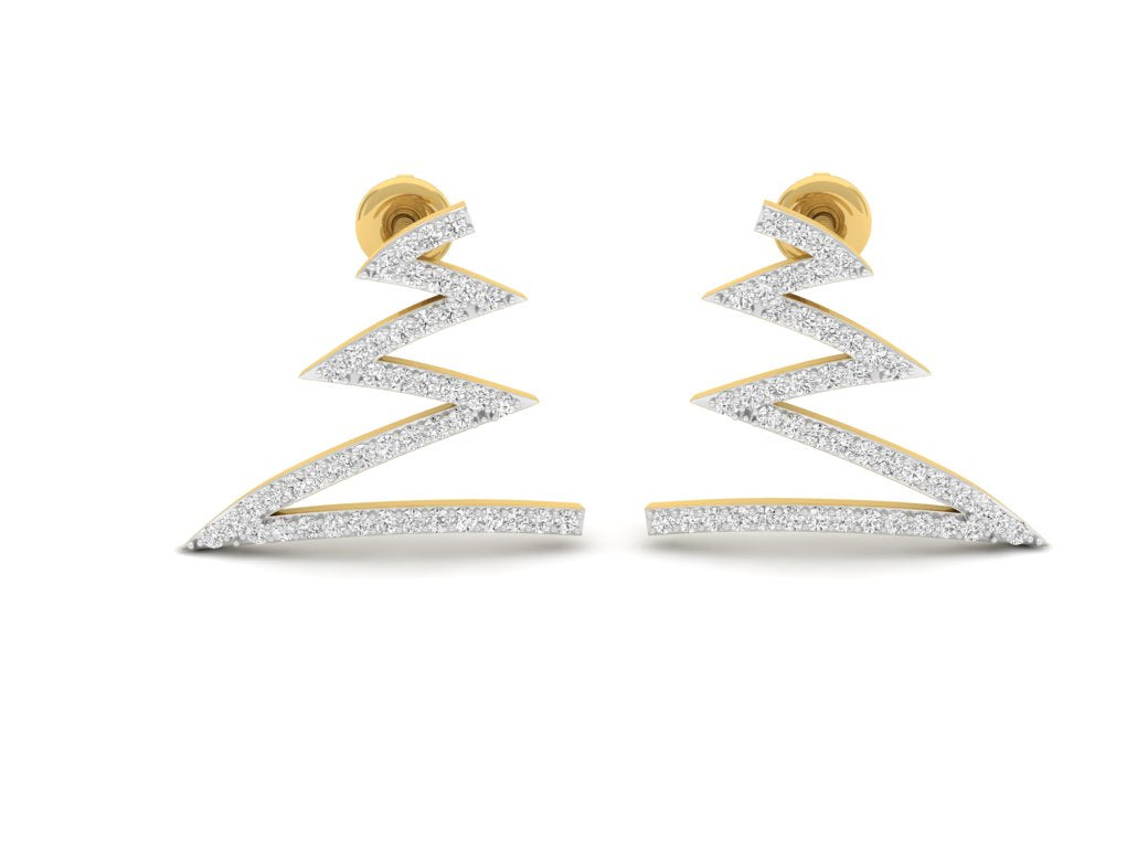 18Kt gold real diamond earring 4(2) by diamtrendz