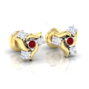 18Kt gold real diamond earring 50(1) by diamtrendz