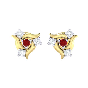 18Kt gold real diamond earring 50(2) by diamtrendz