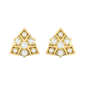 18Kt gold real diamond earring 51(2) by diamtrendz