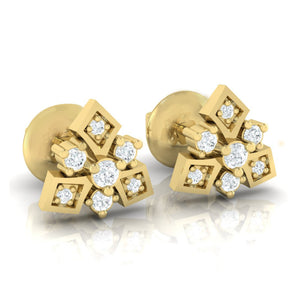 18Kt gold real diamond earring 51(1) by diamtrendz