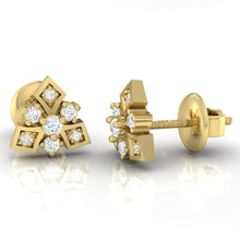 Load image into Gallery viewer, 18Kt gold real diamond earring 51(3) by diamtrendz