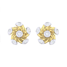 Load image into Gallery viewer, 18Kt gold real diamond stud earring 52(2) by diamtrendz