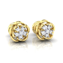 Load image into Gallery viewer, 18Kt gold real diamond stud earring 53(1) by diamtrendz