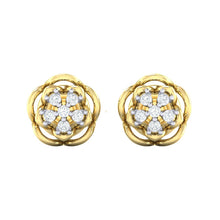 Load image into Gallery viewer, 18Kt gold real diamond stud earring 53(2) by diamtrendz