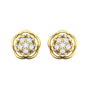 18Kt gold real diamond stud earring 53(2) by diamtrendz