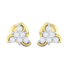 Load image into Gallery viewer, 18Kt gold real diamond stud earring 55(2) by diamtrendz