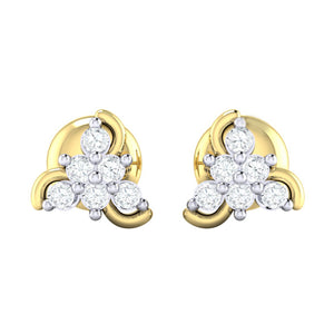 18Kt gold real diamond stud earring 55(2) by diamtrendz