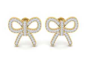 18Kt gold real diamond earring 5(2) by diamtrendz