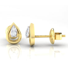 Load image into Gallery viewer, 18Kt Gold Diamond Earring - Pear