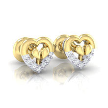Load image into Gallery viewer, 18Kt Gold Diamond Earring - Heart