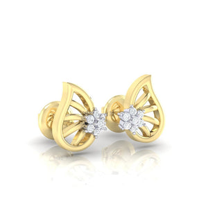 18Kt gold real diamond earring 7(1) by diamtrendz