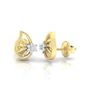 18Kt gold real diamond earring 7(3) by diamtrendz