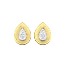 Load image into Gallery viewer, 18Kt gold pear diamond earring by diamtrendz