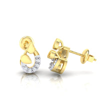 Load image into Gallery viewer, 18Kt gold real diamond earring by diamtrendz