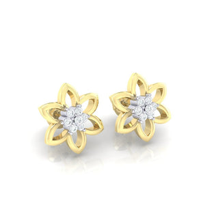 18Kt gold real diamond earring 8(1) by diamtrendz
