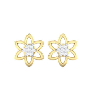 18Kt gold real diamond earring 8(2) by diamtrendz
