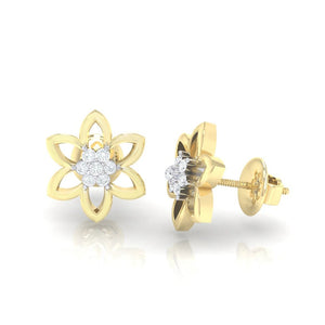 18Kt gold real diamond earring 8(3) by diamtrendz