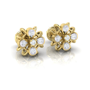 18Kt gold real diamond earring by diamtrendz