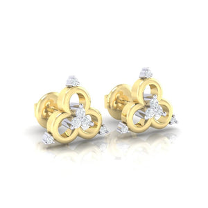 18Kt gold real diamond earring 9(1) by diamtrendz