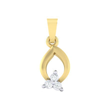 Load image into Gallery viewer, 18Kt gold real diamond pendant 11(1) by diamtrendz