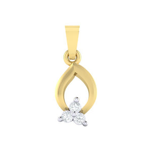 18Kt gold real diamond pendant 11(1) by diamtrendz