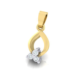 18Kt gold real diamond pendant 11(2) by diamtrendz