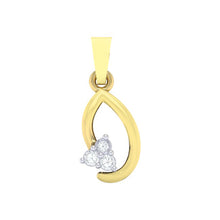 Load image into Gallery viewer, 18Kt gold real diamond pendant 13(1) by diamtrendz