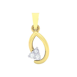 18Kt gold real diamond pendant 13(1) by diamtrendz