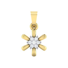 Load image into Gallery viewer, 18Kt gold real diamond pendant 15(1) by diamtrendz