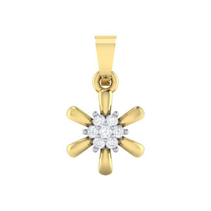 18Kt gold real diamond pendant 15(1) by diamtrendz