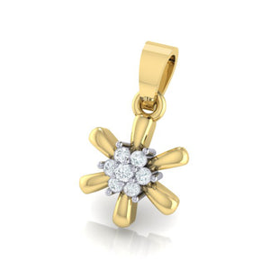 18Kt gold real diamond pendant 15(2) by diamtrendz