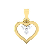 Load image into Gallery viewer, 18Kt gold heart diamond pendant by diamtrendz