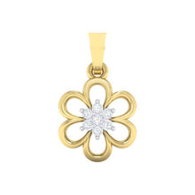 Load image into Gallery viewer, 18Kt gold floral diamond pendant by diamtrendz