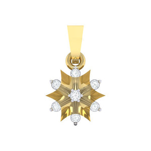 18Kt gold star diamond pendant by diamtrendz