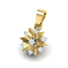 Load image into Gallery viewer, 18Kt gold star diamond pendant by diamtrendz