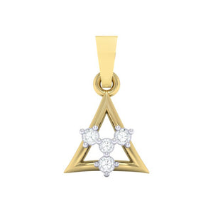 18Kt gold triangle diamond pendant by diamtrendz