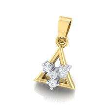 Load image into Gallery viewer, 18Kt gold triangle diamond pendant by diamtrendz