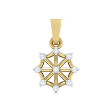 Load image into Gallery viewer, 18Kt gold wheel diamond pendant by diamtrendz