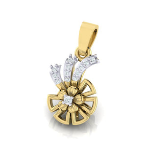 18Kt gold real diamond shape pendant by diamtrendz