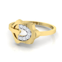 Load image into Gallery viewer, 18Kt gold natural diamond ring by diamtrendz