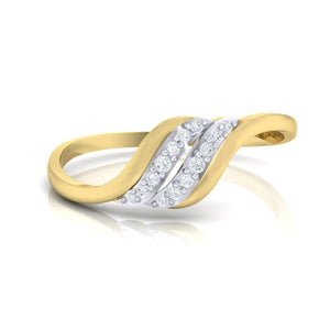 18Kt gold natural diamond ring by diamtrendz