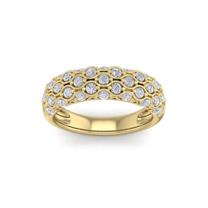 18Kt gold designer band diamond ring by diamtrendz